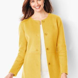 Talbots Double Face Wool Jacket Mustard 2